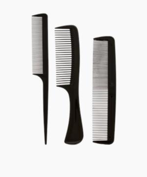 Set de 3 peignes à cheveux noir