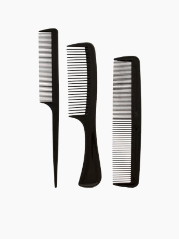peigne à queue, démêloir et demi-démêloir noir