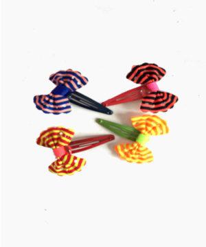 Barrettes à cheveux pour filles – nœud couleur x8