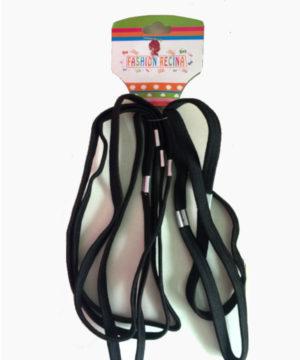 Bandeau élastique de tête noir x6